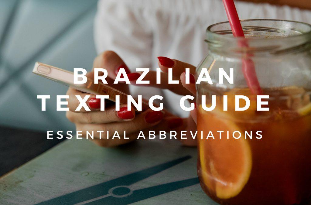 20+ Abbreviations to Text in Brazilian Portuguese